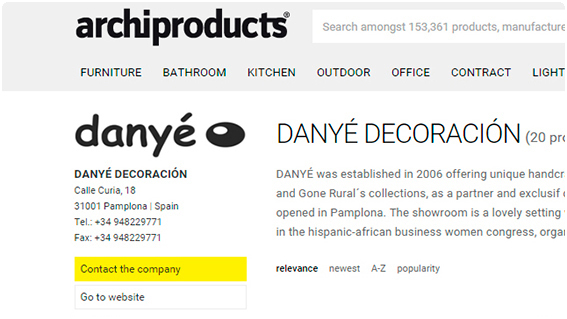 DANYÉ and ARCHIPRODUCTS Partnership