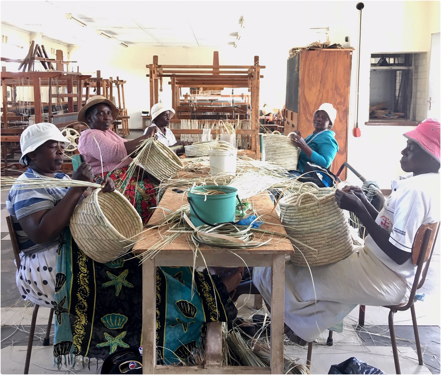 We visited some of the weavers in Zimbabwe and Swaziland. Developping new products together